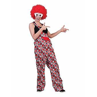 Gioco di carte Poker Cuore Picche Checker Cross Slacks Unisex Costume Player Tarot Clown Pantaloni