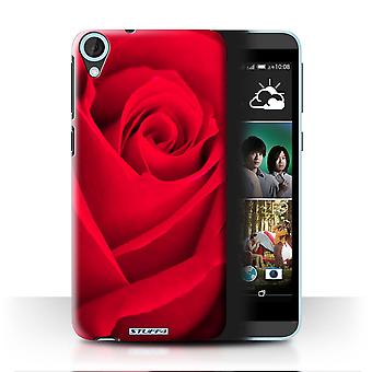 STUFF4 Case/Cover for HTC Desire 820s Dual/Red Rose/Floral Garden Flowers