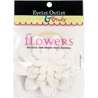 Eyelet Outlet Flowers 40/Pkg-White FLW-F8A