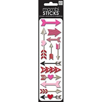 Puffy Stickers Love Arrows Spxh 198