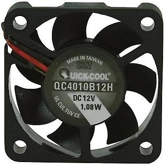Axial fan 12 Vdc 12.23 m³/h (L x W x H) 40 x 40 x 10 mm QuickCool QC4010B12H
