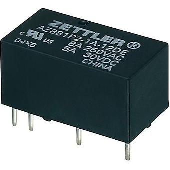 Zettler Electronics AZ881-2A-12DEA Subminiature PCB Mount Power Relay 12Vdc 2 NO, DPST-NO