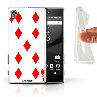 STUFF4 Gel/TPU Case/Cover for Sony Xperia Z5/5.2/9 of Diamonds/Playing Cards