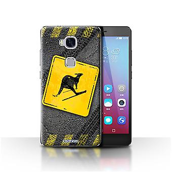 STUFF4 Case/Cover for Huawei Honor 5X/GR5/Skiing Kangaroo/Funny Road Signs