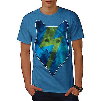 Blue Wolf Face Dog Animal Men Royal Blue T-shirt | Wellcoda