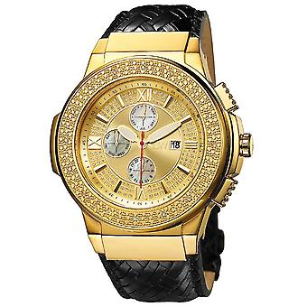 JBW diamond men's stainless steel watch SAXON - gold