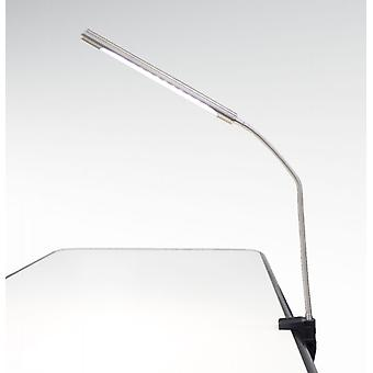 LED booklight CIGNO 7W warm touch blanc variateur nickel mat