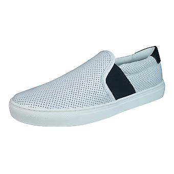 Geox D Trysure B Womens Leather Slip On Trainers / Shoes - White
