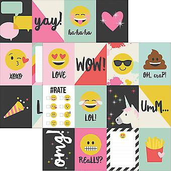 Emoji Love Double-Sided Elements Cardstock 12