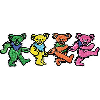 Grateful Dead Dancing Bears large iron-on / sew on cloth patch (cv)
