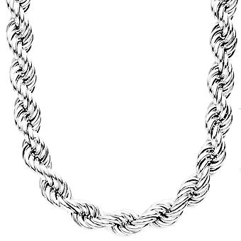 Sterling 925 Silver Halsband - ihåliga rep 10 mm