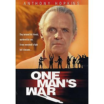 One Man's War [DVD] USA importerer
