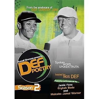 Russell Simmons Presents Def Poetry: Season 2 [DVD] USA import