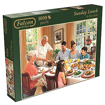 Falcon De Luxe Sunday Lunch 1000 Piece Puzzle