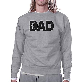 Dad Golf Unisex Grey Sweatshirt Funny Design Tank For Golf Lovers