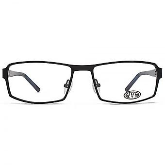 Animal Keats Combination Rectangle Glasses In Black On Blue