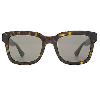 Gucci Urban Square Sunglasses In Havana Green