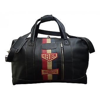 Grandprix Originals Large Vintage Heuer Leather Travelbag