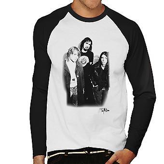 Nirvana Kurt Dave og Krist mænds Baseball langærmet T-Shirt