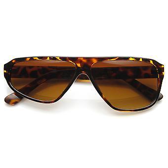 Half Wink Asymmetrical Flat Top Novelty Sunglasses