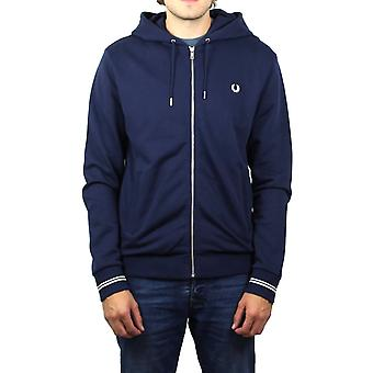 Fred Perry Hooded Sweatshirt (Carbon Blue)