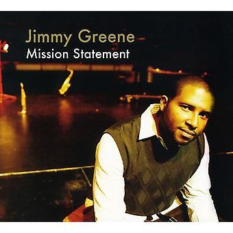 Jimmy Greene - Mission Statement [CD] USA import