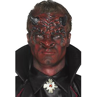 Smiffys Foam Latex Devil Head Prosthetic Red With Adhesive (Costumes)