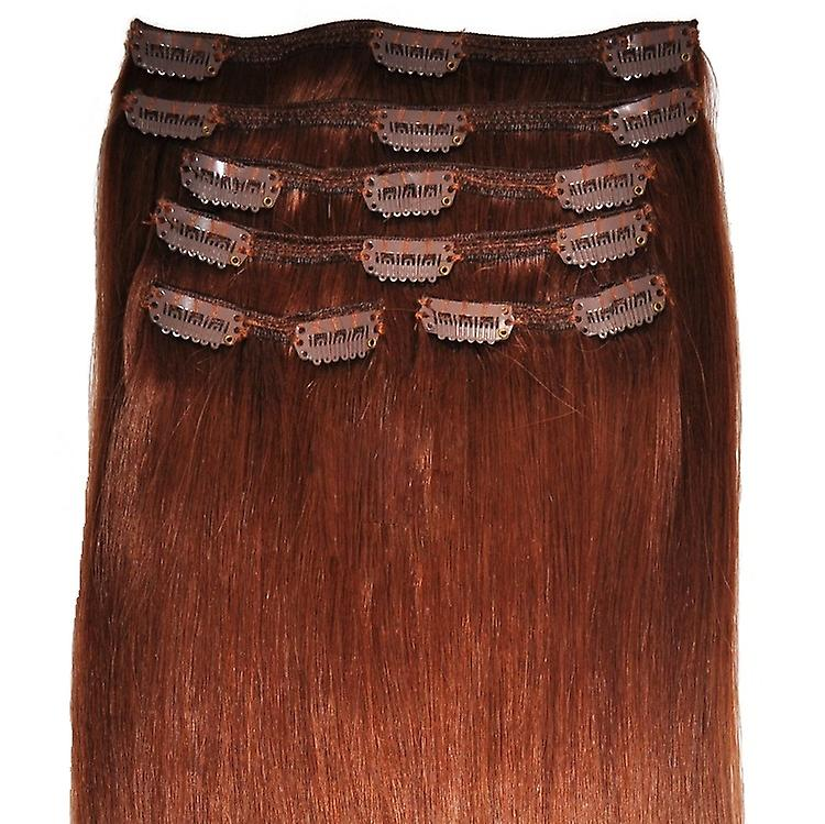 #33 - Auburn, Luxus, vollen Kopf, echte Clip in Hair Extensions - 100 % Remy, dreifach Schuß, dicken Menschenhaar