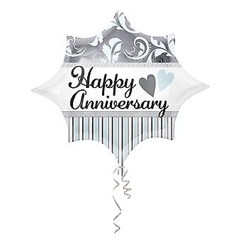 Amscan 18 Inch Shaped Happy Anniversary Foil Balloon