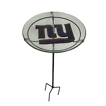 NFL New York Giants preget Glass Birdbath hage innsats