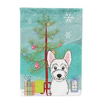 Carolines Schätze BB1598CHF Weihnachtsbaum und Leinwandgröße Haus Westie Flagge