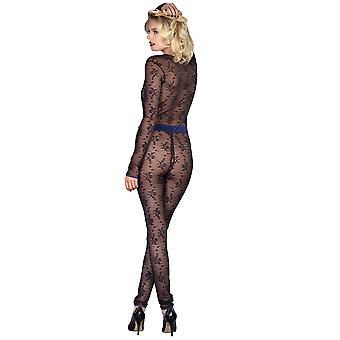 Maison Close 609739 Women's Vertige d'Amour Black and Navy Blue Catsuit