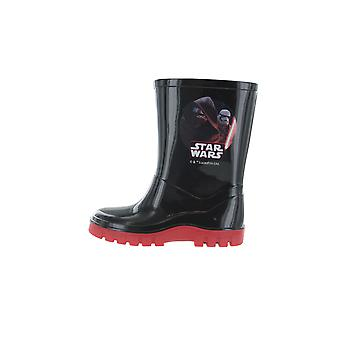 Boys Star Wars The Last Jedi Black & Red Wellies Rain Boots Sizes UK Infant 7-1