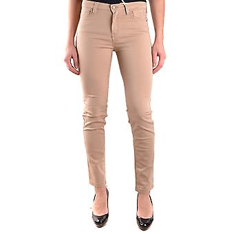 Enterprise women's MCBI162077O beige cotton of jeans