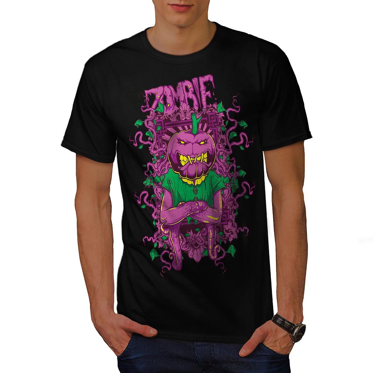 Vegetable Horror Zombie Men Black T-shirt | Wellcoda