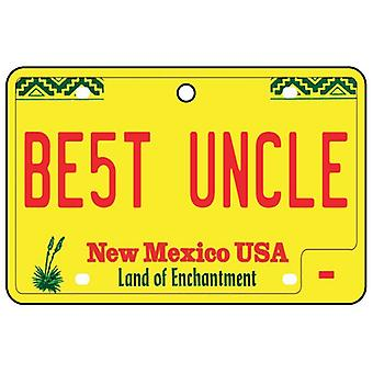 New Mexico - Best Uncle License Plate Car Air Freshener
