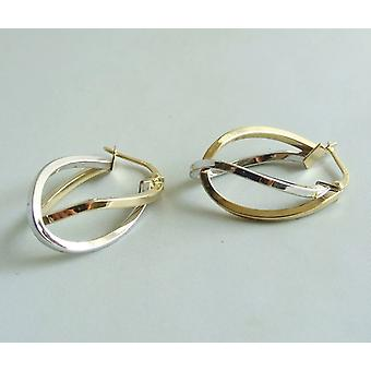 Bicolor golden earrings