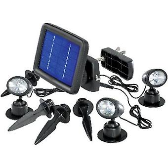 Foco solar LED blanco de frío Renkforce Trio SP303K negro