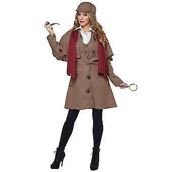 Detective Inglés de Lady Sherlock Holmes privado Inspector TV Movie mujeres traje
