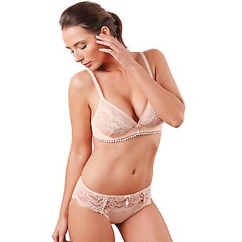 Guy de France 67130-181-113 Women's Pink Solid Colour Lace Underwired T-Shirt Bra