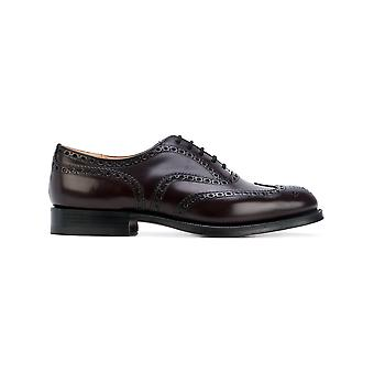 Church's men's EEB0029XVF0ADY Burgundy leather lace-up shoes