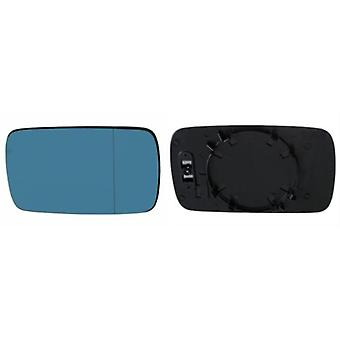 Right / Left Blue Mirror Glass (not heated) & Holder for BMW 3 Touring 1999-2005