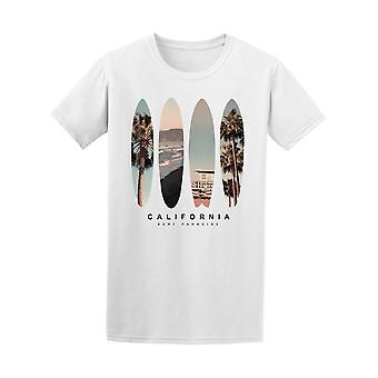 Surfboard California Beach Photo Tee - Image by Shutterstock