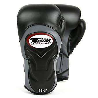 Twins Special Deluxe Sparring Gloves - Black Grey