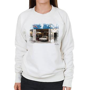 Chevrolet Impala At The Auto Shop White Women's Sweatshirt
