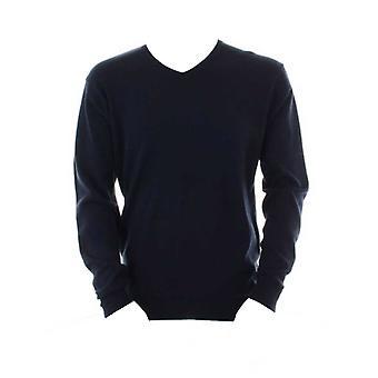 Kustom Kit Men's Arundel V-Neck Sweater Long Sleeve