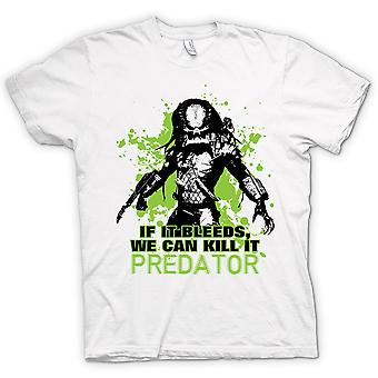 Womens T-shirt - Predator If It Bleeds We Can - Funny
