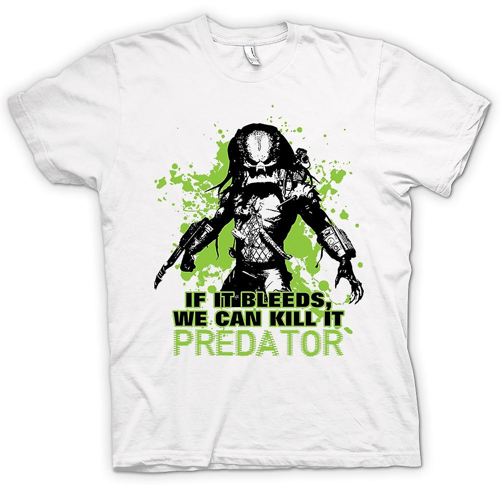 Womens T-shirt-Predator als It Bleeds kunnen We - Funny