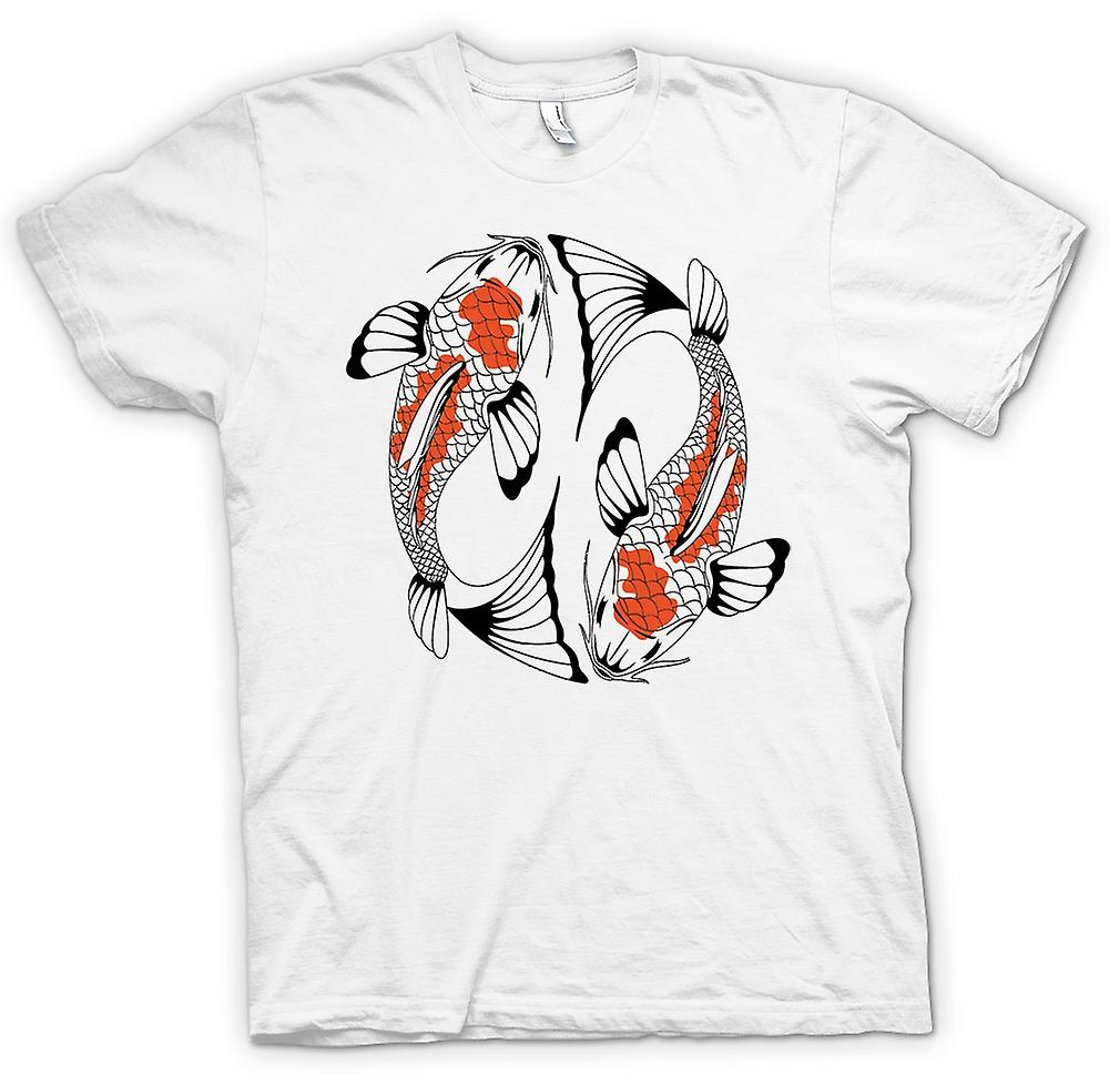 Mens T-shirt-Koi-karper Cool vis