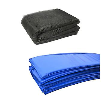 12 Ft Trampoline Accessory pack - Blue Pad and Netting